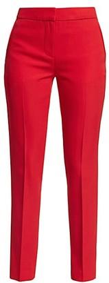 Burberry Hanover Straight Leg Wool Pants