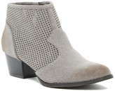 C Label Hannah Perforated Zip-Up Bootie