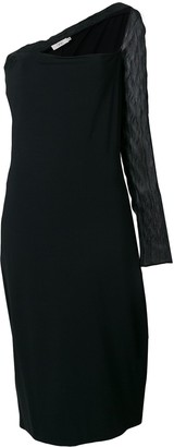 Romeo Gigli Pre-Owned sheer single sleeve dress