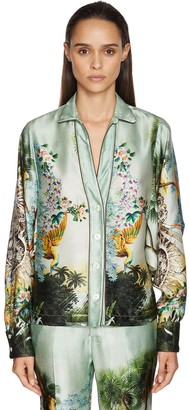 F.R.S For Restless Sleepers Hammered Flower Print Silk Shirt