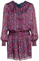 Ramy Brook Gessie Floral Print Silk Peasant Dress