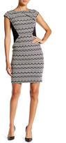 Adrianna Papell Cap Sleeve Jacquard Sheath Dress (Regular & Petite)