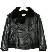 Andorine fluffy biker jacket