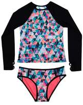 Gossip Girl Kaleidoscope Daydream Two-Piece Rashguard Swimsuit