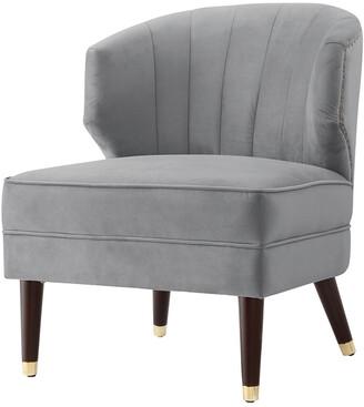 Nicole Miller Trung Velvet Slipper Accent Chair