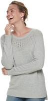 Sonoma Goods For Life Women's SONOMA Goods for Life Pointelle Yoke Sweater