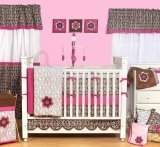 Bacati Damask Pink/Chocolate 10 Piece Crib Set
