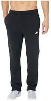 Nike NSW Club Pants Open Hem (Black/Black/White) Men's Casual Pants