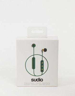 Sudio Tio wireless earphones in dark green