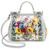 Dolce & Gabbana Sicily Printed Leather Top Handle Satchel