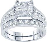 JCPenney MODERN BRIDE 2 CT. T.W. Princess & Round Diamond Bridal Ring Set