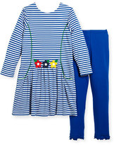 Florence Eiseman Stripe Dress w/ Solid Leggings, Size 2-6X