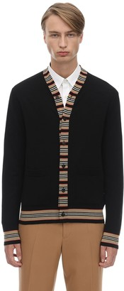Burberry HERITAGE MERINO WOOL KNIT CARDIGAN