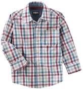 Osh Kosh Boys' 2T-7 Long Sleeve Woven Shirt