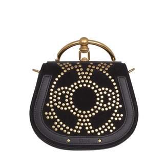 Chloé Bracelet Nile Navy Suede Handbags