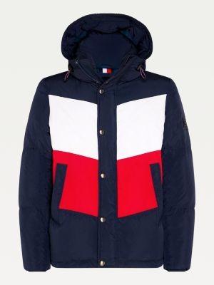 Tommy Hilfiger Big & Tall Chevron Colour-Blocked Hooded Jacket