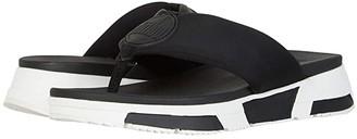 FitFlop Sporty Logo Toe-Thong (Black) Women's Shoes