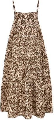 Matteau The Tiered Floral-print Cotton Maxi Dress