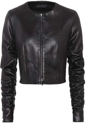 The Row Razna leather jacket