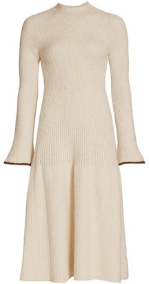Proenza Schouler Long-Sleeve Textured Knit Dress