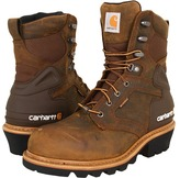 Carhartt CML8229 8 WP Insulated Safety Toe Logger Boot (Crazy Horse Brown) - Footwear