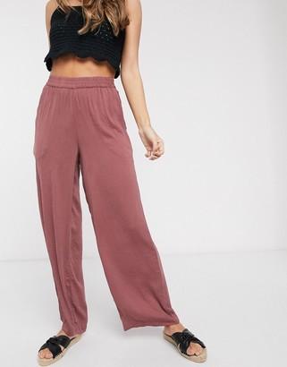 Vero Moda satin wide leg pants in pink