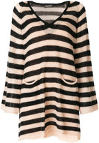 Twin-Set striped knitted dress