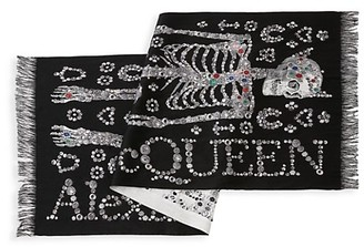 Alexander McQueen Pearly McQueen Skeleton Scarf