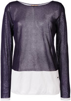 Fay colour block jumper - women - Polyester/Viscose - M