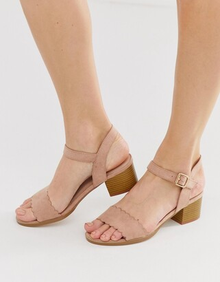 Miss KG scallop block heeled sandal-Beige