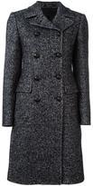 Tagliatore herringbone double-breasted coat