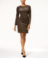 Jessica Howard Metallic Velvet Shift Dress