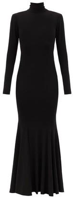 Norma Kamali Fishtail-hem Cutout-jersey Maxi Dress - Black