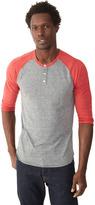Alternative Basic Eco-Jersey Raglan Henley Shirt