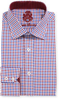 English Laundry Gingham Cotton Dress Shirt, Red/Blue