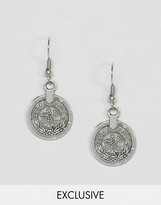 Reclaimed Vintage Inspired Coin Drop Earrings