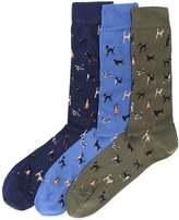 Barbour Dog Motif Socks