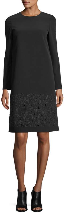 Lafayette 148 New York Corbin Long-Sleeve Emory Cloth Dress