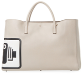 Anya Hindmarch Ebury Featherweight Speed Camera Maxi Leather Tote