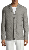 Isaia Quilted Notch Lapel Jacket