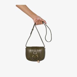 See by Chloe Green Hana mock croc leather cross body bag