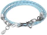 Sho London Mari Friendship - Sterling Silver & Leather Double Bracelet