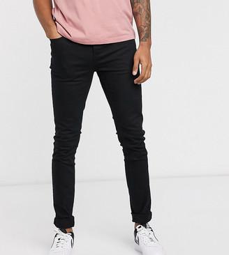 Topman Big & Tall super skinny jeans in black