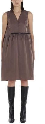 Fabiana Filippi Belted V-Neck Dress