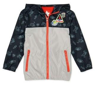 365 Kids From Garanimals Boys Outer Space Windbreaker Jacket, Sizes 4-10