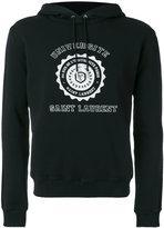 Saint Laurent Université seal printed hoodie