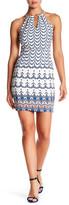 Jessica Simpson Printed Halter Shift Dress