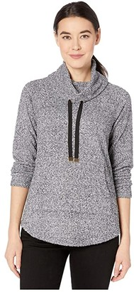 Nic+Zoe Petite Keep It Cozy Top (Grey Mix) Women's Blouse