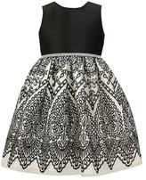 Jayne Copeland Embroidered Border Dress