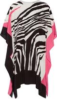 Issa Kayla draped zebra-print silk crepe de chine tunic